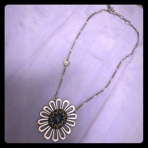 Lucky brand daisy necklace with Turquoise stone